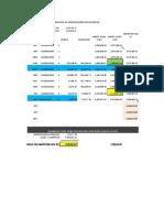 Calculo de Fianza de Adelanto de Materiales y Directos