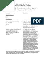 2009-08-06 Planning Board Agenda
