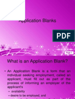 Application Blanks