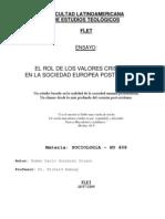 El Rol de Los Valores Cristianos en La Sociedad Europea Post-Cristiana-Dario Gonzalez