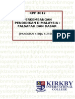 KPF 3012 - Assignments Sem 2