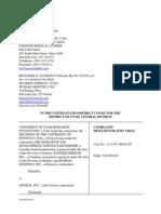 University of Utah Research Foundation Et. Al. v. GeneDX