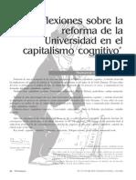 Galcerán Huguet - Reflexiones sobre la reforma de la universidad en el capitalismo cognitivo