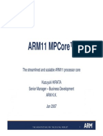 The Streamlined and Scalable ARM11 Processor Core