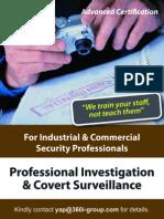 Professional Covert Surveillance & Investigation