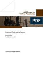 Myanmar's Trade and its Potential
