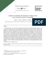Authentic Leadership Development