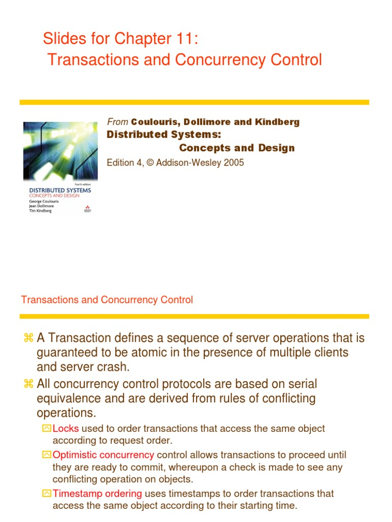 Chapter11transconcur Ppt Operating System Technology Distributed Computing Free 30 Day Trial Scribd