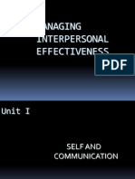 Managing Interpersonal Effectiveness 2012 - 13
