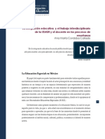 Cordoba Callado - La integración educativa y el trabajo interdisciplinario de la USAER y el docente en los procesos de enseñanza