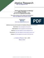 2001 Roulston - Data Analysis and Theorizing as Ideology