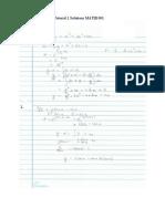 UTT MATH 1001 Tutorial 2 Solutions SeptDec