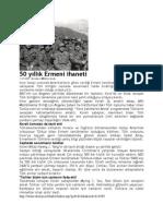 50 yıllık Ermeni ihaneti