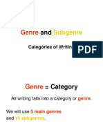 genre and sub genre