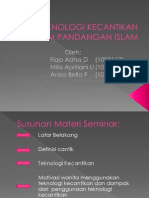 148442188 Teknologi Kecantikan Dalam Pandangan Islam