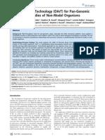 Diversity Arrays Technology (DArT) for Pan-Genomic Evolutionary Studies of Non-Model Organisms