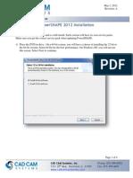 Installing PowerSHAPE 2012