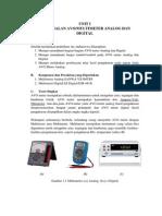 03. Unit 1 Pengenalan AVO-Multimeter Analog Dan Digital, praktek pengukuran listrik