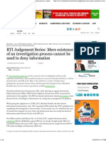 RTI Judgement Series_ Mere Existence of an Investigation Process Cannot Be Used to Deny Information - Moneylife