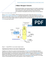 Typical PFD for Sour Water Stripper Column