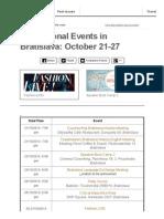 International Events Bratislava October 21-27