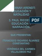 Diapositivas Hanna Arendt y Paul Ricoeur