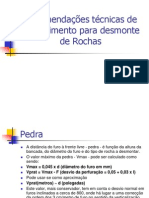 Recomendações técnicas de Procedimento para desmonte de Roch