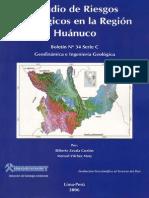 ESTUDIO DE RIESGOS GEOLÓGICOS EN LA REGIÓN HUANUCO%2C  2006