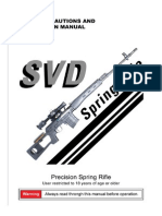 A&K SVD Dragunov Sniper Rifle Manual