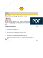 Shell Competency Based Questionnaire