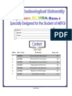 Redesigned Syllabus of MBA-I by Santosh