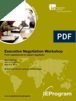 Negotiation Workshop Brochure, 2013, IE Madrid Spain