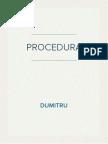 Procedura Privind Instituirea Terapiei Transfuzionale