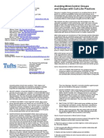 Avoiding Mind - Control Groups and Groups With Cult - Like Practices, Tufts, Brochure