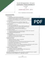 Nieuwsbrief 2 - Leergang Pensioenrecht 2013-2014