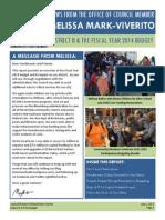CM Melissa Mark-Viverito FY14 Budget Report