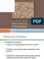 Rhetorical Strategies AQ2013