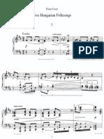 Liszt S245 Funf Ungarische Volkslieder