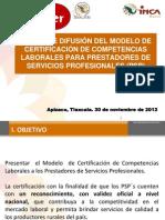 Estrategia de Difusion de La Certificacion Para Psp -----Resumen