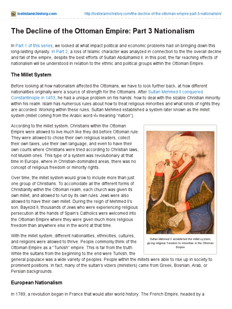The Decline Of The Ottoman Empire Part 3 Nationalism Ottoman