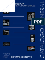 Catalogo Sistemas de Ensayo