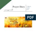 Praise and Prayer Diary
