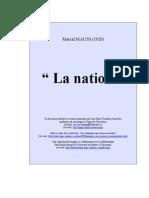 Mauss La Nation