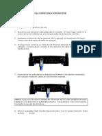 Evidencia Configuracion Router
