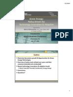 Walawalkar Green Energy Technology&PolicyOverview 2009