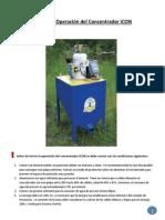 Manual de Operación del Concentrador iCON