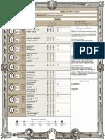 ZWEIHÄNDER - Character Sheet