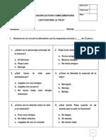 evaluacion ¡NO FUNCIONA LA TELE!