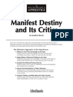 Manifest Destiny and Its Critics - Burack