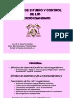 Metodos de Estudio y Control de Los Microorg